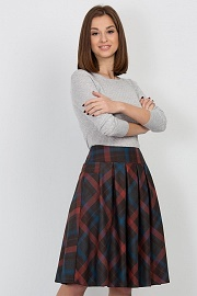 Юбка в клетку от Emka Fashion / 578/bernetta