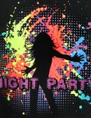 Куртка мужская Night party (Светится в ультрафиолете. Со светоотражателями)